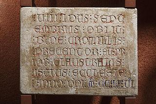 Épitaphe de B. de Crozillis