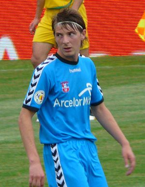 Liviu Antal - Antal playing for Oțelul Galați in 2010