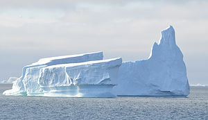 Antarctic Circle - An iceberg near the Antarctic Circle north of Detaille Island