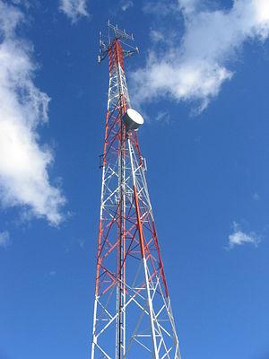 Torre de una Antena de telefonía movil