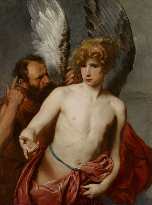 """""""Daedalus and Icarus"""" by Anthony van Dyck"""