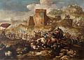 Antonio Calza - Bitka pred obzidjem z dvema utrjenima mestoma.jpg