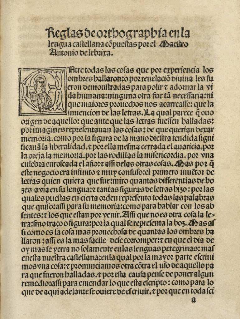 Antonio de Nebrija (1517) Reglas de orthographia en la lengua castellana