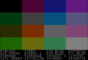 Apple II graphics - Image: Apple II low resolution graphics demo 2
