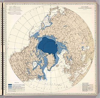 Arctic ice pack - Extent of Arctic ice, March 1946 (U.S. Navy)