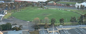Arden Street Oval - Image: Arden street from air