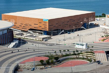 Future Arena, a temporary venue designed to be reconstructed into schools. Arena do Futuro Rio 2016.jpg
