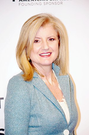 Arianna Huffington attending the premiere of T...