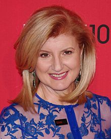 Huffington at the 2012 Time 100 gala