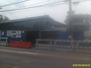 Arlington, Staten Island - The Mariners' Harbor Library on South Avenue, under construction
