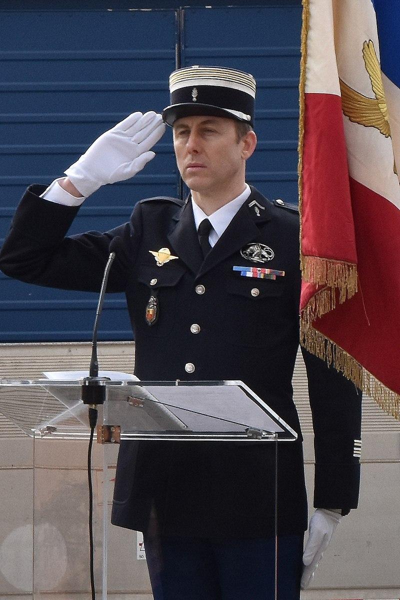 Arnaud Beltrame während einer Militärzeremonie in Aude (2018)