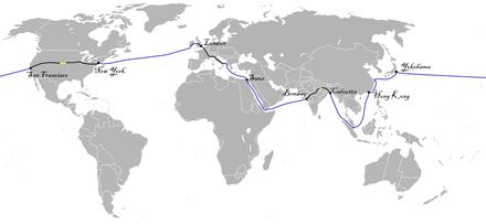 In 80 Tagen Um Die Welt Route