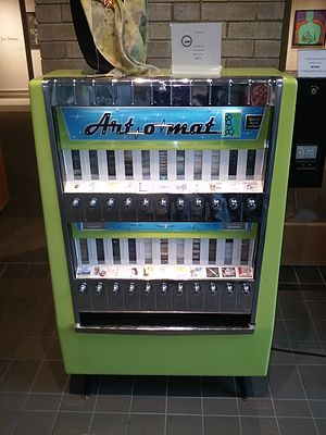 Clark Whittington - An art-o-mat machine in the Yellowstone Art Museum.