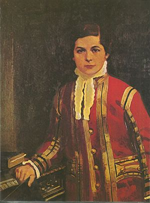 Children of the Chapel - Arthur Sullivan aged 13 when he was a chorister of the Chapel Royal, wearing the State Dress