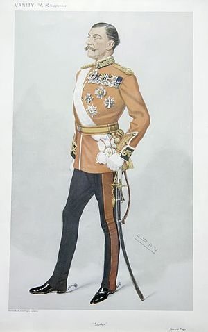 """Arthur Paget (British Army officer) - """"Soudan"""", caricature by Spy in Vanity Fair, 1908."""