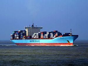 Arthur Maersk IMO 9260445 approaching Port of Rotterdam, Holland 08-Mar-2007.jpg