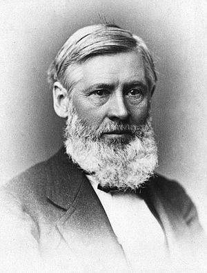 Creation–evolution controversy - Asa Gray around the time he published Darwiniana.