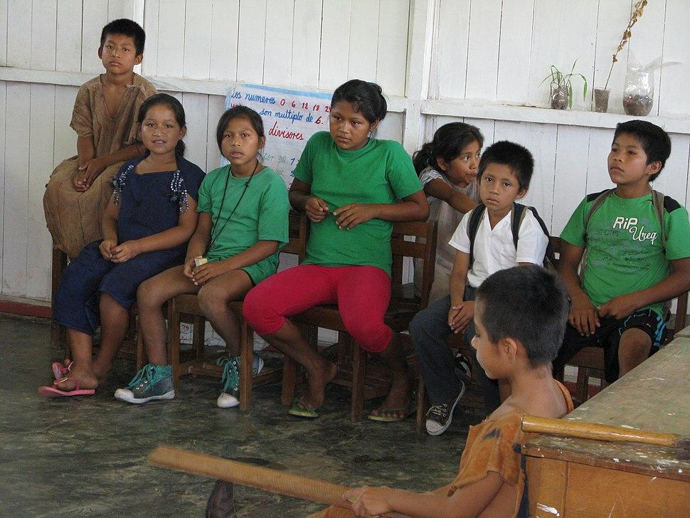 Ashaninca children in school