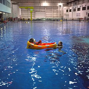 STS-96 - Mission Specialist Julie Payette during emergency bailout training, 8 January 1999.