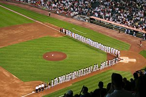 Opening Day introductions at Minute Maid Park on April 2, 2007
