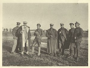 Harold Alexander, 1st Earl Alexander of Tunis - Officers of the Baltic Landeswehr in Latvia 1920 – Alexander stands right in the middle.