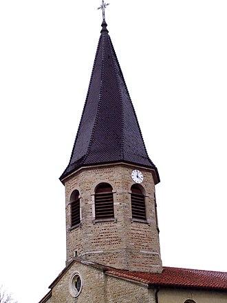 Attignat - Image: Attignat clocher