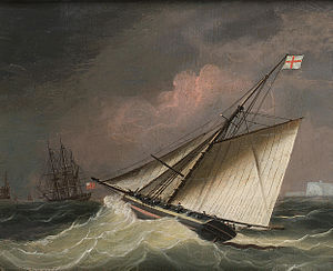 Attributed to Thomas Buttersworth - A Cutter in a swell.jpg