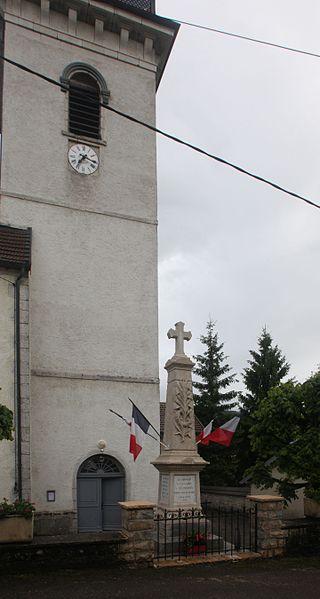 Monument aux morts d'Aubonne (Doubs).