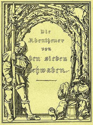 The Seven Swabians - Die Sieben Schwaben, Ludwig Aurbacher, 1832.
