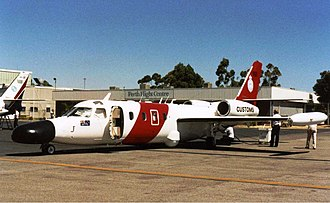 IAI Westwind - This modified Westwind was used by Australian Customs; seen here at Perth Airport (early 1990s).