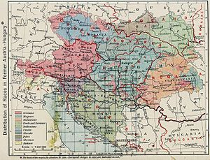 Austria-Hungary post-division, William Shepherd 1926 atlas
