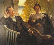 Author Per Hallström and his wife Helga 1904.jpg