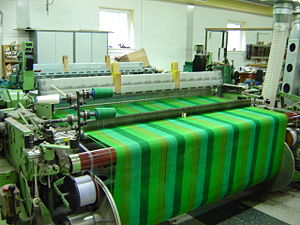 Avoca Handweavers - A mechanised weaving machine in use at the Mill