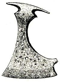 Σιδηρούς πέλεκυς που ανακαλύφθηκε στην Γκοτλάνδη της Σουηδίας