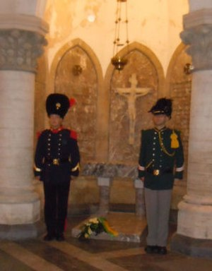 Prince Baudouin of Belgium - Grave of Prince Baudouin with guard of honour
