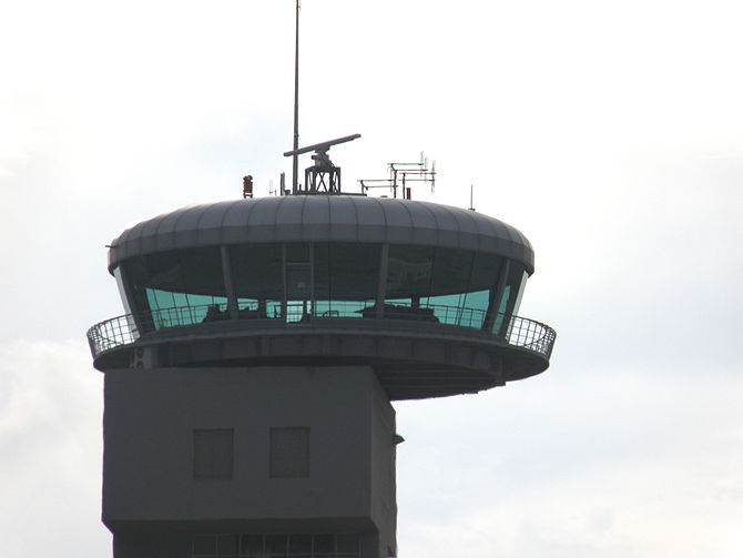 English: ATC tower at .