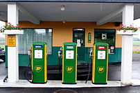Old petrol pumps in Nøtterøy, Norway