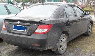 BYD F3 - Image: BYD F3 rear 2 China 2012 04 15