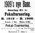 B 1909 - B 1913 and Ejby BK - BK Marienlyst 1926 FBUs Pokalturnering quarter-finals advertisement Fyns Social-Demokrat.png