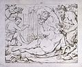 Bacchus reclines while a satyr fills his bowl and Pan adorns Wellcome V0019444.jpg