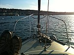 Back to the yacht and relaxing on the foredeck - panoramio.jpg