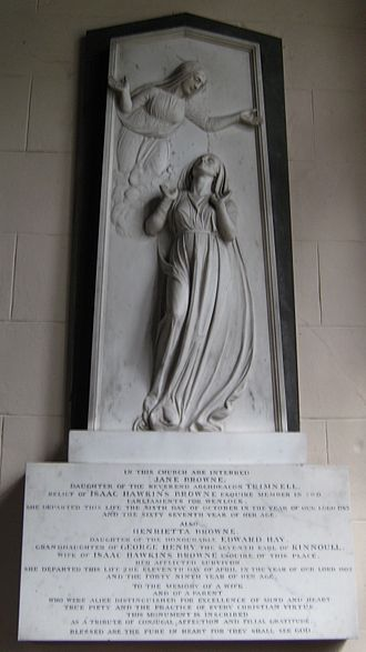John Flaxman - Memorial in the church at Badger, Shropshire