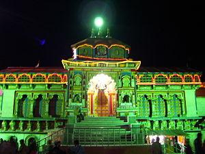 Badrinath Temple - Image: Badri Night