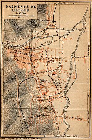 Bagnères-de-Luchon - Plan of Luchon in 1914