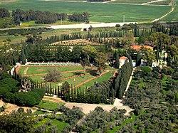 Bahai gardens in Acre.JPG