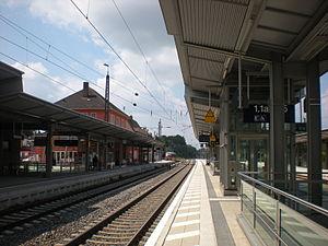 Günzburg station - Platforms