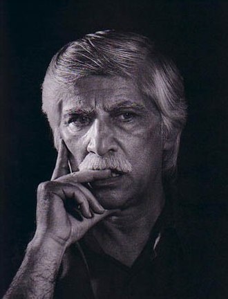 Bahram Beyzai - Bahrām Beyzaie pensive, photographed by Fakhradin Fakhraddini about 2002