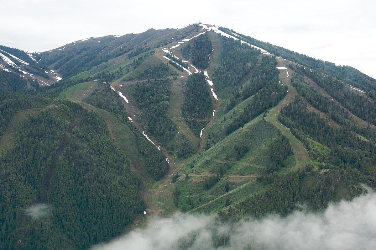 Of Green Ski Trails At Park City Utah