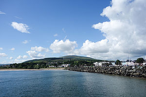 Ballycastle, County Antrim - View from the Rathlin boat