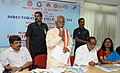 Bandaru Dattatreya addressing at the inauguration of the Regional Workshop on 'Government of India Welfare Schemes', organised by the Directorate of Field Publicity, Mo Information & Broadcasting, in Hyderabad.jpg